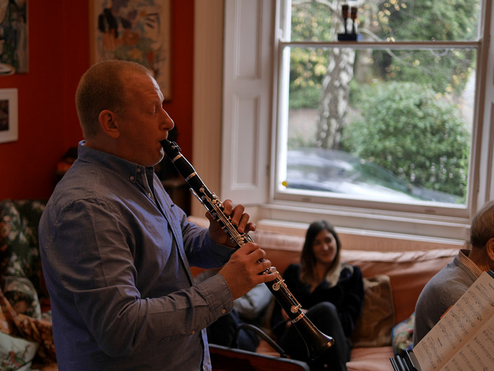 Phil Bonser on clarinet.